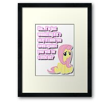 Fluttershy being shy Framed Print