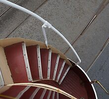 Stairs Down Double Decker Horse Tram by youmeus