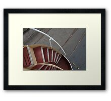Stairs Down Double Decker Horse Tram Framed Print