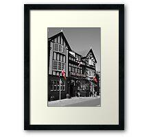 Black & White with Red Framed Print