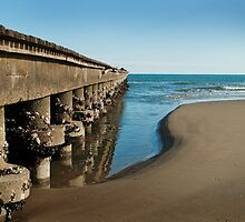 Wharf on the beach by Alvise Busetto