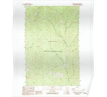 USGS Topo Map Washington State WA Frosty Meadow 241238 1989 24000 Poster