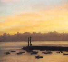 Lanzarote Dawn oil 02 by Karen  Securius