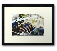 Vintage soviet car dash Framed Print