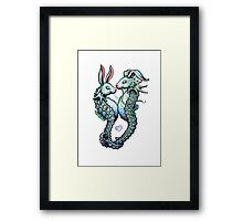 Couple of SeaBunnies in Love Framed Print