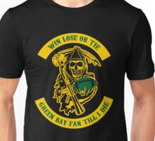 Win Lose Or Tie Green Bay Fan Till I Die. Unisex T-Shirt