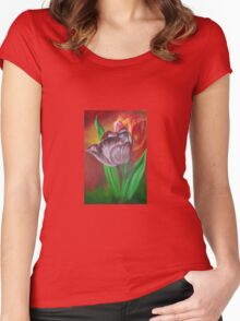 Two Tulips Women's Fitted Scoop T-Shirt