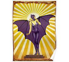 Golden Vintage Bat Elixir Poster