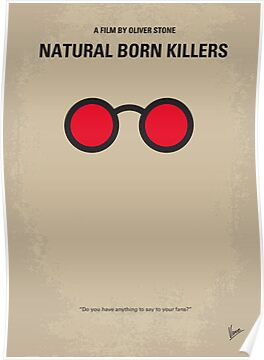 No139 My Natural Born Killers minimal movie poster by Chungkong