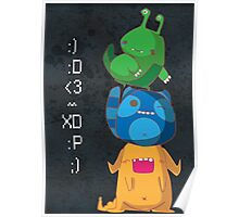 Cute Monsters Poster