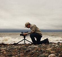 Filming on the Beach by Colin Bentham