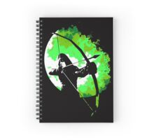 He walks at night... (Green) Spiral Notebook