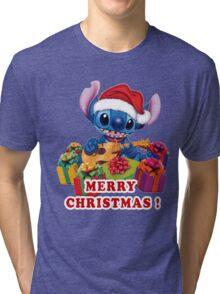MERRY CHRISTMAS STITCH Tri-blend T-Shirt