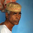 Portrait of a Man in Charminar by Valerie Rosen