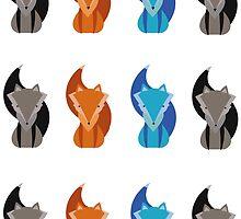 Three foxes by nimsic