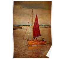 Old sailing boat Poster