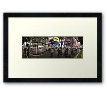 A Night in Mongkok Framed Print
