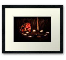 Candle Meditation Framed Print