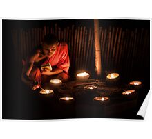 Candle Meditation Poster