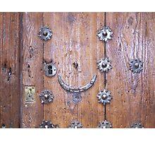 Door without knocker, Toledo Photographic Print