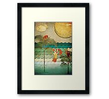 Collage of Coral Bubbles Framed Print
