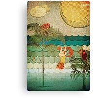 Collage of Coral Bubbles Canvas Print