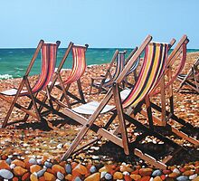 Deckchairs by Paula Oakley