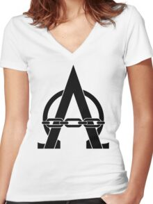 I am Alpharius Icon Women's Fitted V-Neck T-Shirt