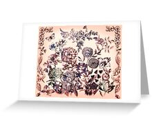 Botanical Flowers - Tattoo on Chaos Greeting Card