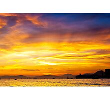 Sunset coast Photographic Print