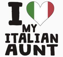 I Heart My Italian Aunt Kids Tee