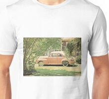 Vintage Car in Terracotta Unisex T-Shirt