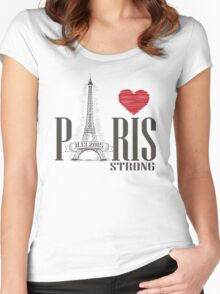PARIS STRONG Women's Fitted Scoop T-Shirt