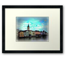 Colours on Limmat Framed Print