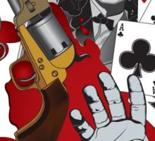 Dead Man's Hand Sticker