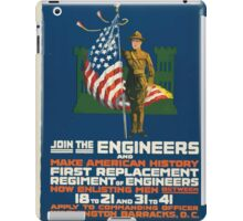 Join the engineers and make American history First replacement regiment of engineers iPad Case/Skin