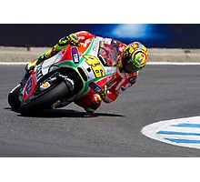 Valentino Rossi at laguna seca 2012 Photographic Print