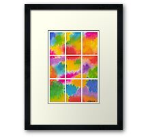 ABSTRACT ARTWORK INTO 9 PARTS Framed Print