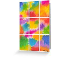 ABSTRACT ARTWORK INTO 9 PARTS Greeting Card