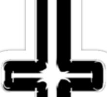 Inverted cross (small) Sticker