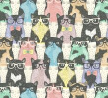 Hipster Cats Pattern Sticker