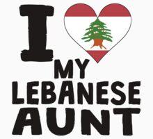 I Heart My Lebanese Aunt One Piece - Short Sleeve