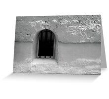 window. 18th century customs house. Greeting Card