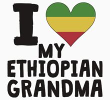 I Heart My Ethiopian Grandma Kids Tee