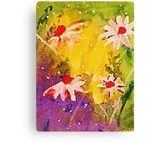 #1 series of  daisies, watercolor Canvas Print