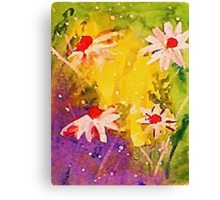 #1 series of  daisies, watercolor Canvas Print