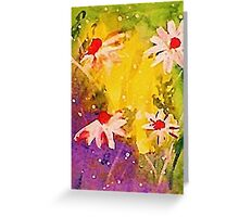 #1 series of  daisies, watercolor Greeting Card