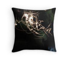 Flocking light Throw Pillow