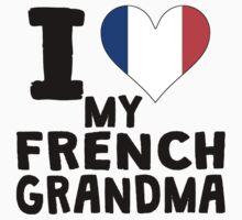 I Heart My French Grandma Kids Tee