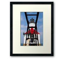 Lighthouse and Catwalk, St. Joseph, Michigan Framed Print